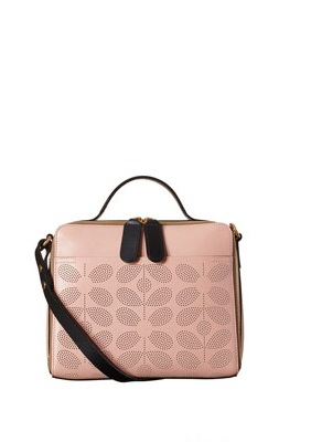 Pink Structured Orla Kiely Iris Bag