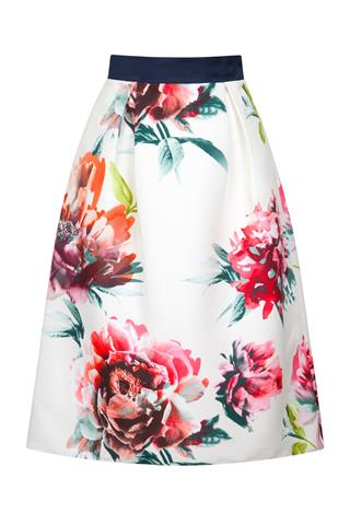 Fee G Floral Skirt